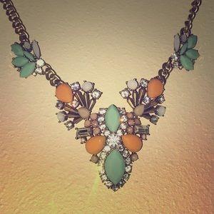 J. Crew Mint & Coral Necklace